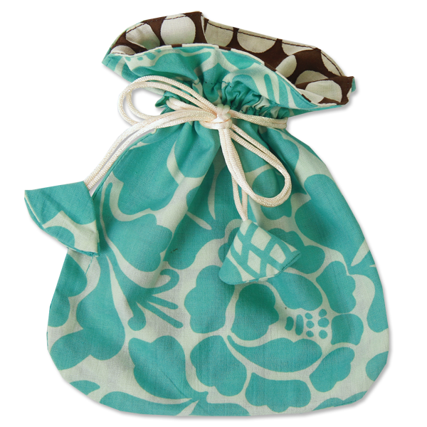 Drawstring Bag | Prada Turquoise (2 sizes)