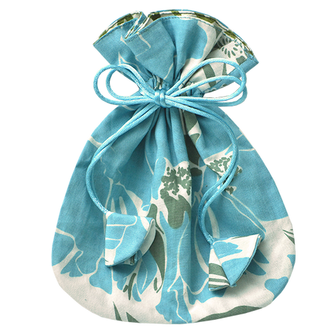 Bags & Cases - Drawstring Bag Teal Rose Small