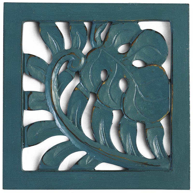 Trivets | Teal Leaf (set of 2)