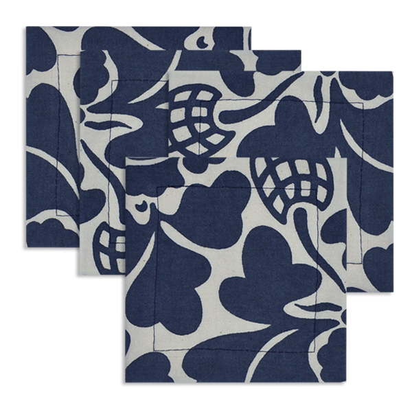 Cotton Coasters | Prada Indigo (set of 4)