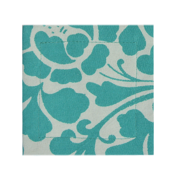 Coasters - Cotton, Prada Turquoise - set/4