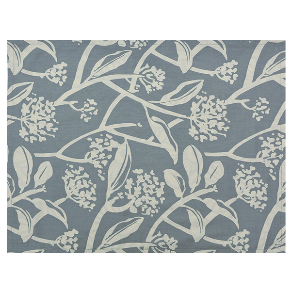 Cotton Placemat | Frangipani Cool Grey (set of 4)