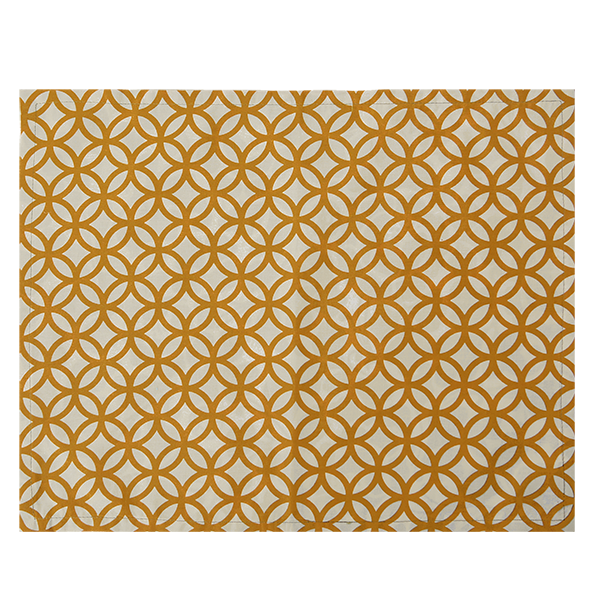 Cotton Placemat | Rings Turmeric (set of 4)