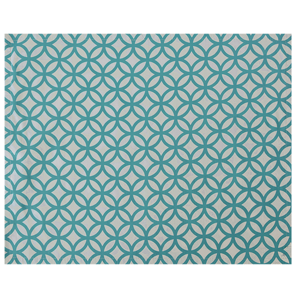 Cotton Placemat | Rings Turquoise (set of 4)