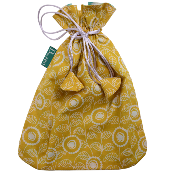 Drawstring Bag | Modern Citrus Yellow (medium)