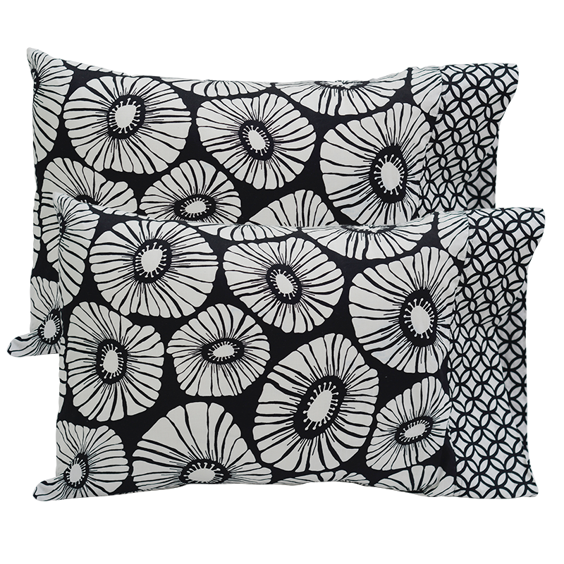 Pillow Case set of 2 | Black & White