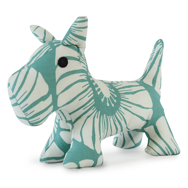 Scrappy Patchwork Doggie | Turquoise