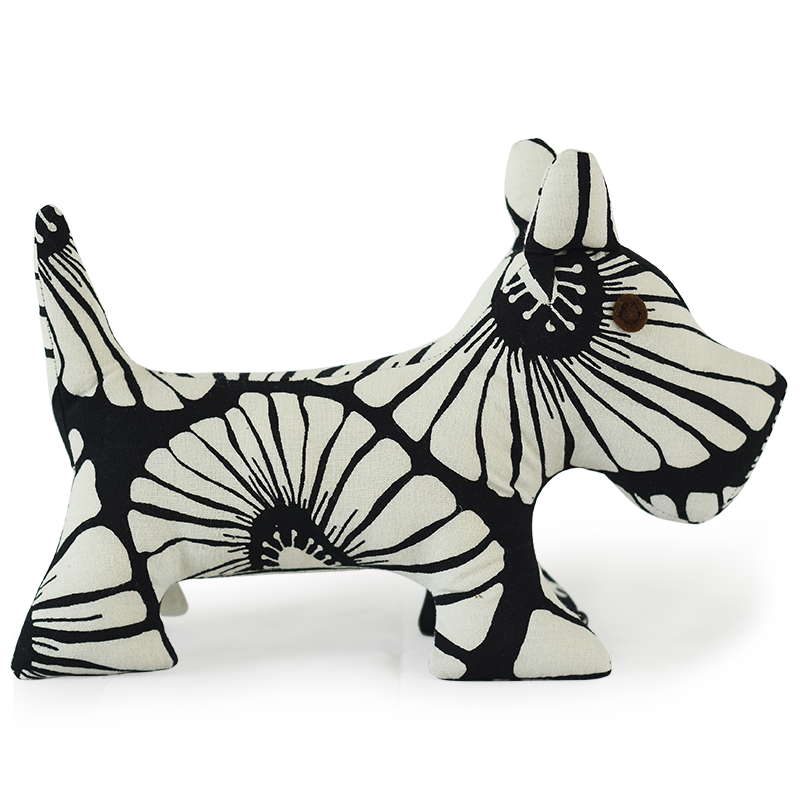 Scrappy Patchwork Doggie | Black