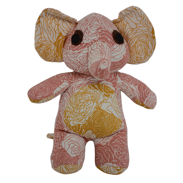 Scrappy Patchwork Elephant Small - Warm