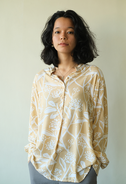Easy Blouse | Frangipani Beige (3 sizes) - SALE
