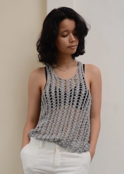 Clothing - Crochet Lacy Tank, 2 sizes