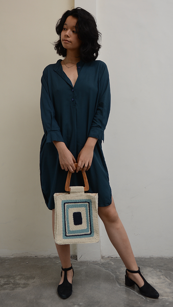 Blouse Dress | Navy (3 Sizes)