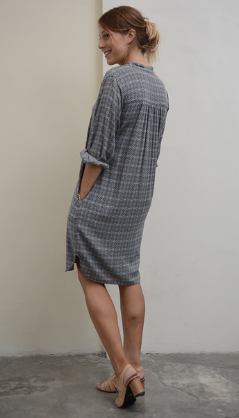 Blouse Dress | Coffee Bean Stormy (3 Sizes) - SALE