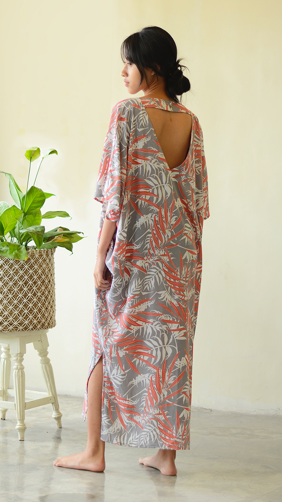 Kaftan Dress | Palm Coral Faun (one size)