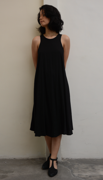 Swing Tank Dress | Black (3 sizes)