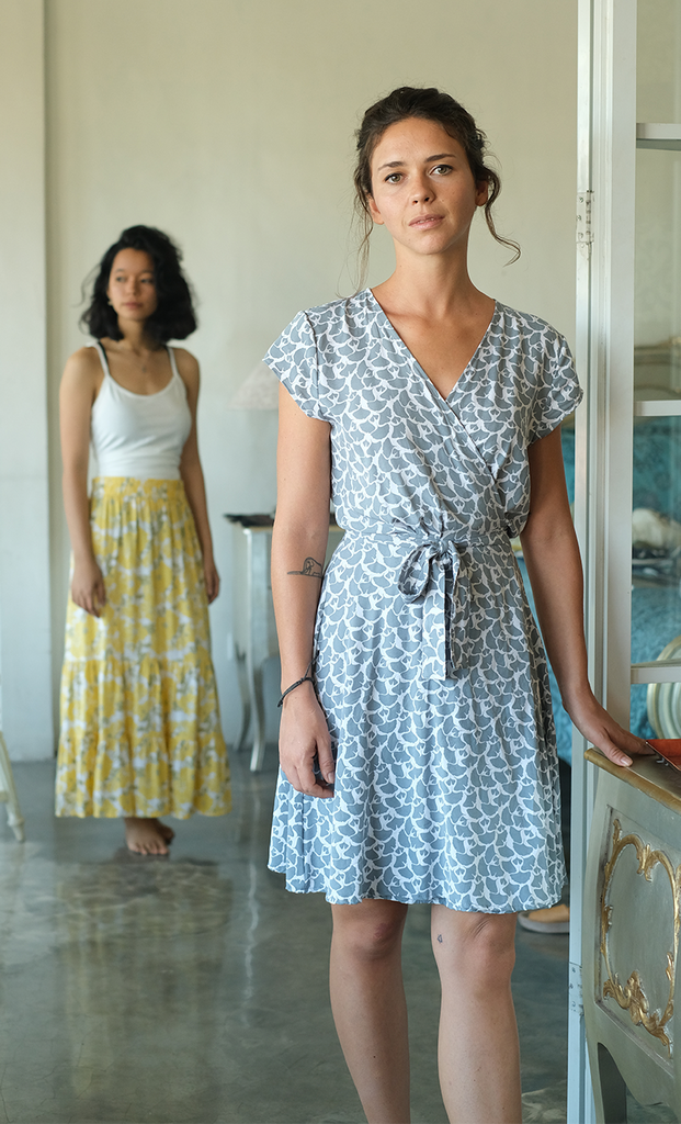 Wrap Dress | Ginkgo Grey (3 sizes)