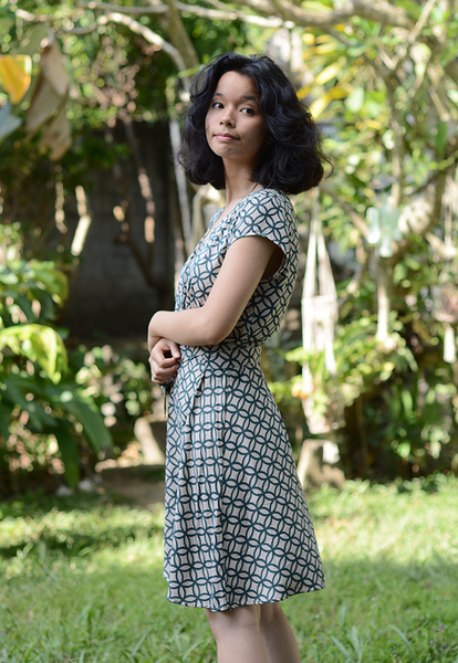 Wrap Dress | Rings Retro Indigo (3 sizes)