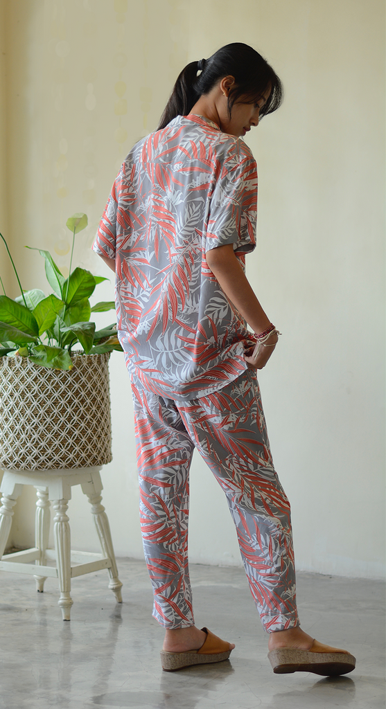 Lounging Pants | Palm Coral Faun (4 sizes)