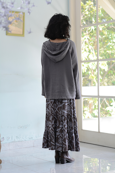 Gypsy Skirt | Frangipani Mocha Blue (2 sizes)