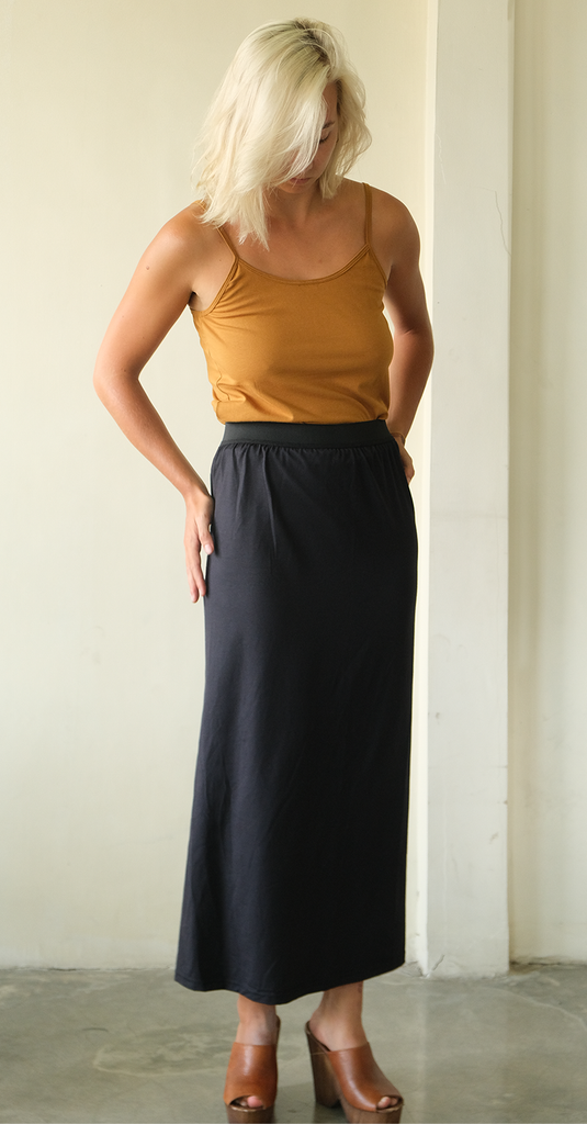 Basic Modal Skirt | Black (2 sizes)