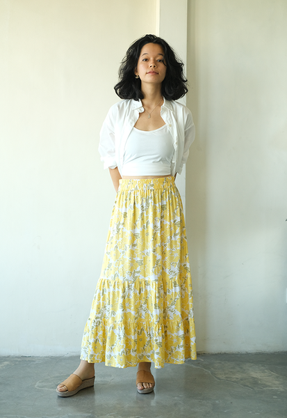 Rose Yellow Gypsy Skirt, 2 sizes