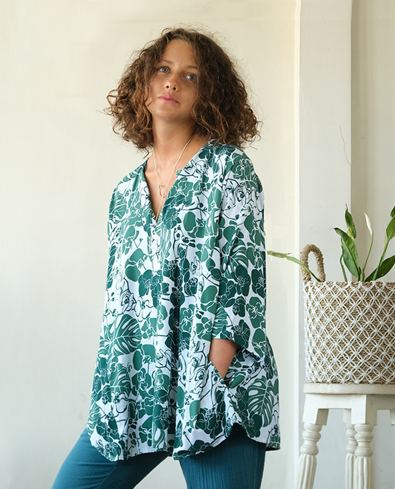 Tunic Top | Orchid Emerald (one size)