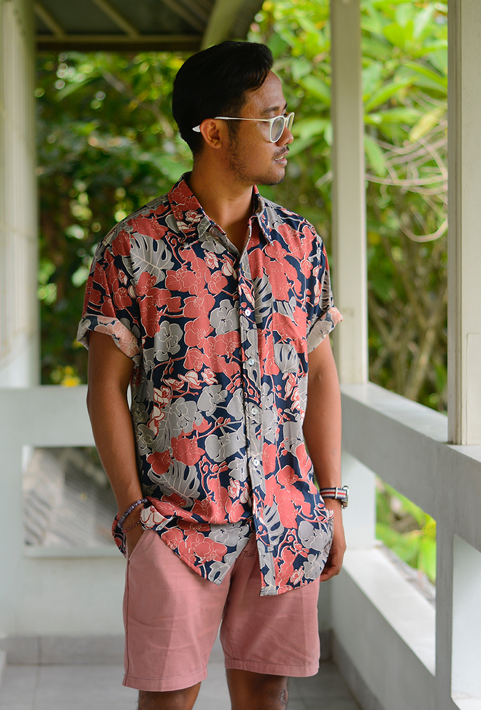 Men's Short Sleeved Shirt | Orchid Navy (4 sizes)