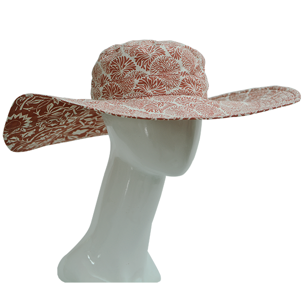 Clothing - Sun Hat, Coral, 2 sizes