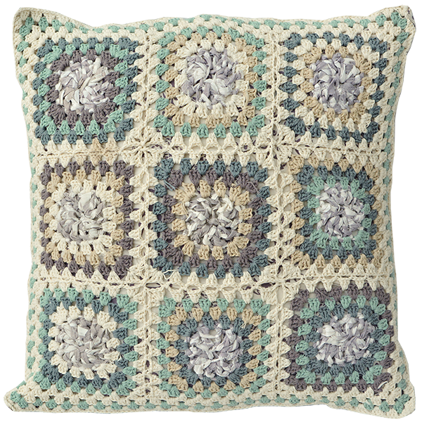 Cushion Cover Crocheted | Upcycled Granny Cool (Large) - SALE
