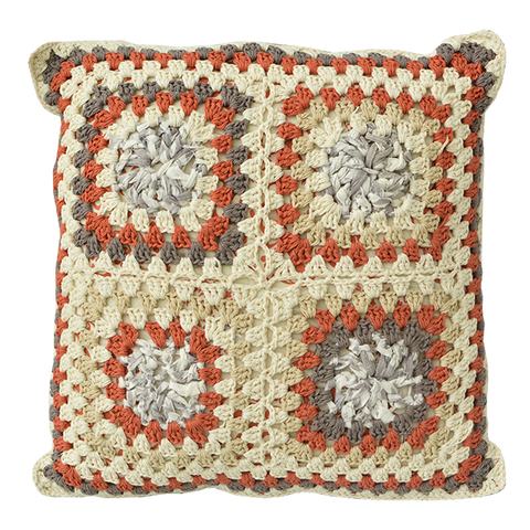 Cushion Cover - Upcycled Spicy Granny Sham, Medium