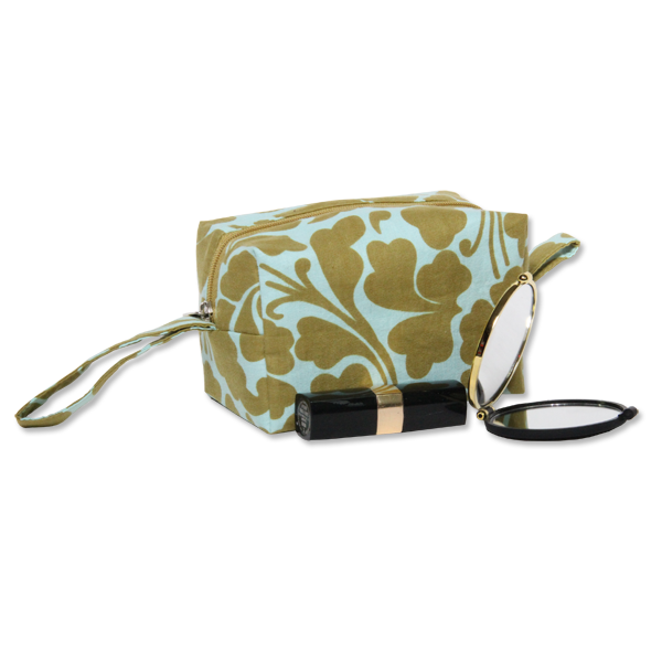 Cosmetic Case | Olive Aqua set of 2 (med & small) - SALE