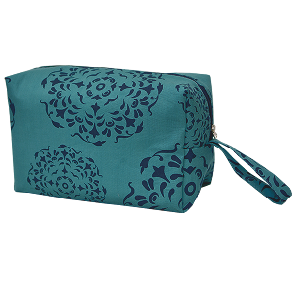 Cosmetic Case | Mandala Teal Indigo (large)