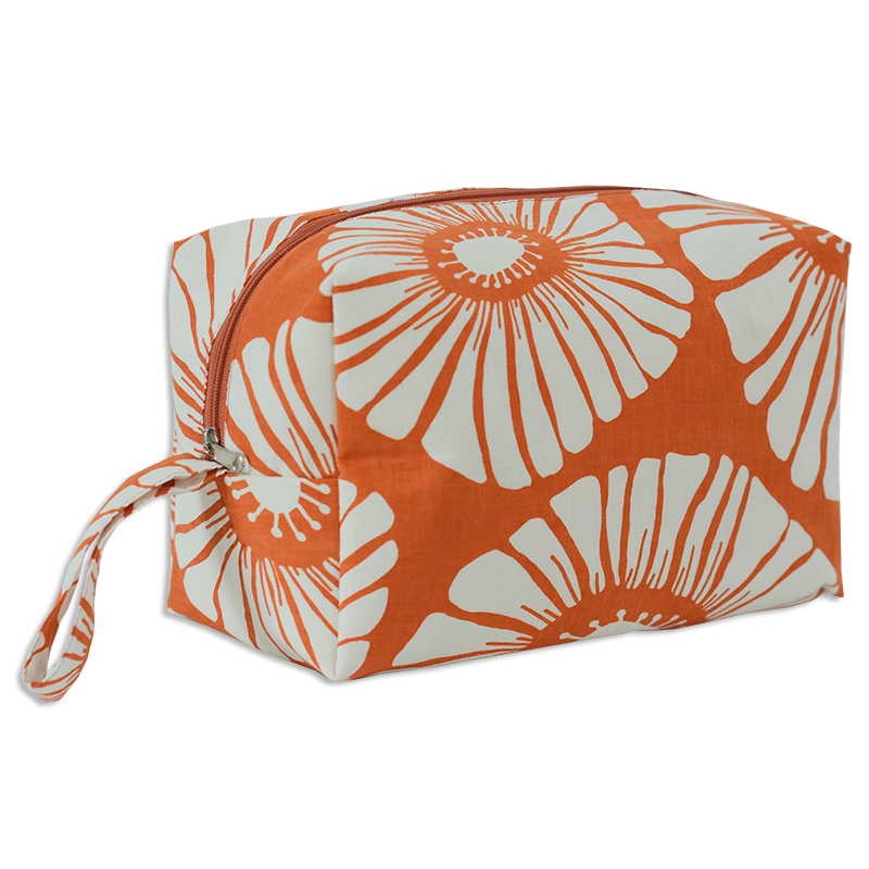 Cosmetic Case | Retro Flowers Spice (large)