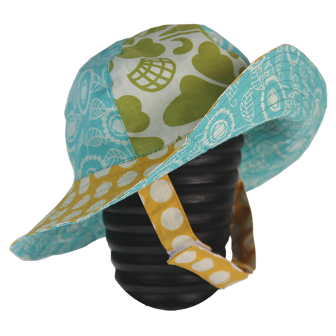 Little Scrappy Sun Hat - Yellow Dots in 2 sizes
