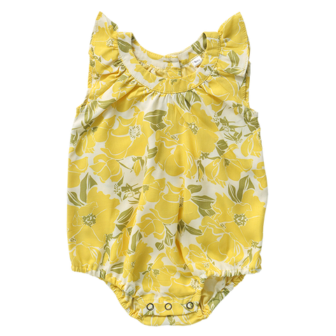 Rayon Romper - Yellow Rose in 3 sizes