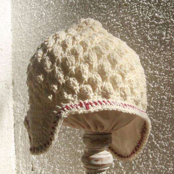 Little Buddha Beanie - Crocheted Natural, 2 Sizes