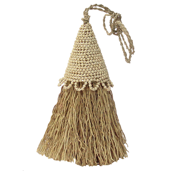 Vetiver Tassel | Beaded Cream