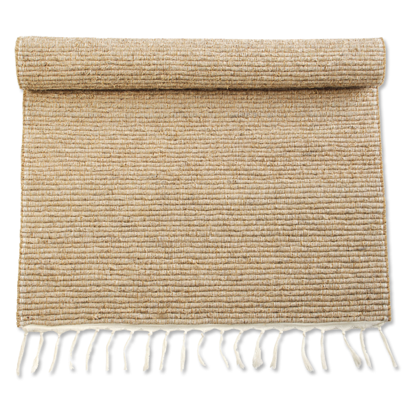 Vetiver Bath Mat | Natural with Fringe