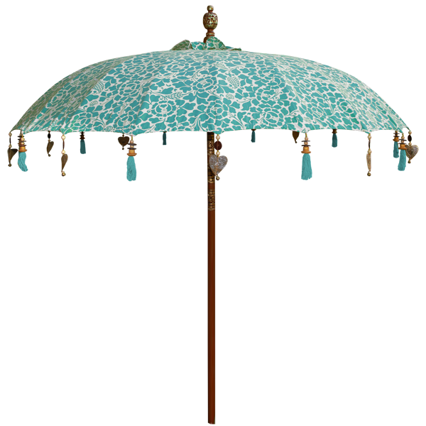 Umbrella - Turquoise Prada Large