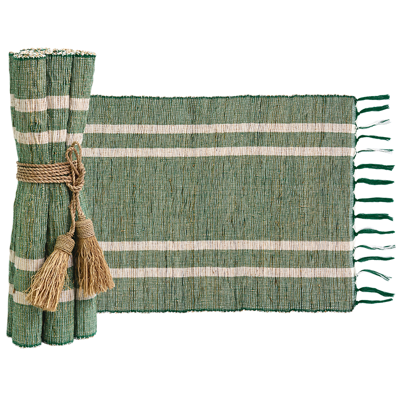 Vetiver Placemat | Emerald (set of 6)
