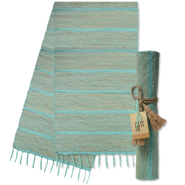 Runner - Pistachio Aqua Stripes Vetiver