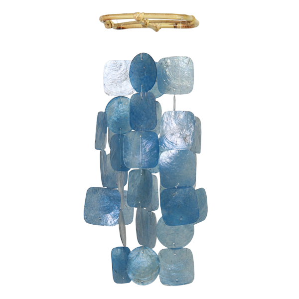 Capiz Wind Chime | Blue (small)