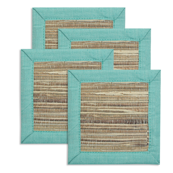 Coasters - Waterlily Aqua - set/4
