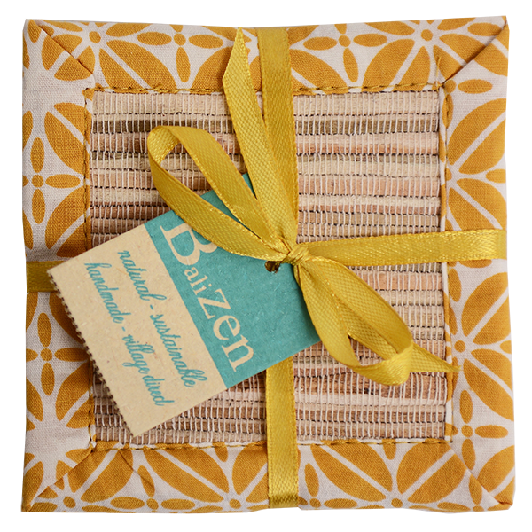 Waterlily Coasters | Tumbleweed Turmeric  (set of 8)