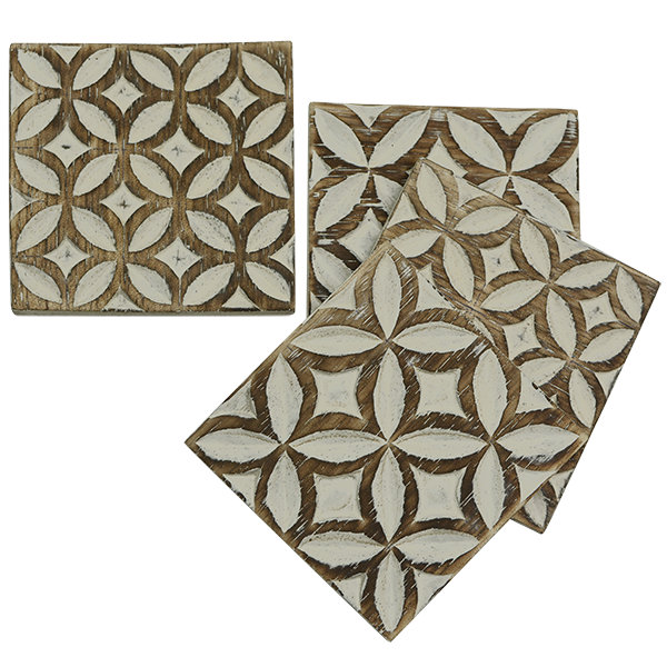 Coaster | Coffee Bean Motif (set of 8)