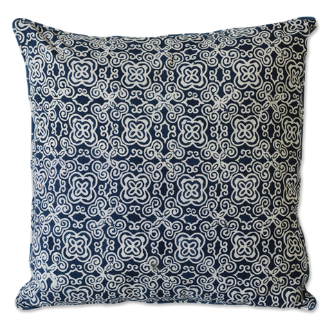 Cushion Cover - Indigo Batik Medium