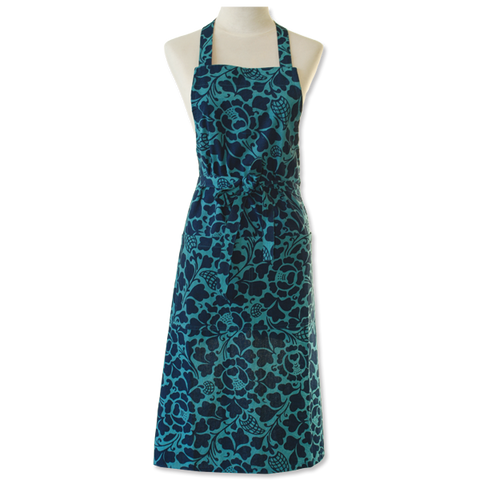 Kitchen Apron - Indigo Teal Prada