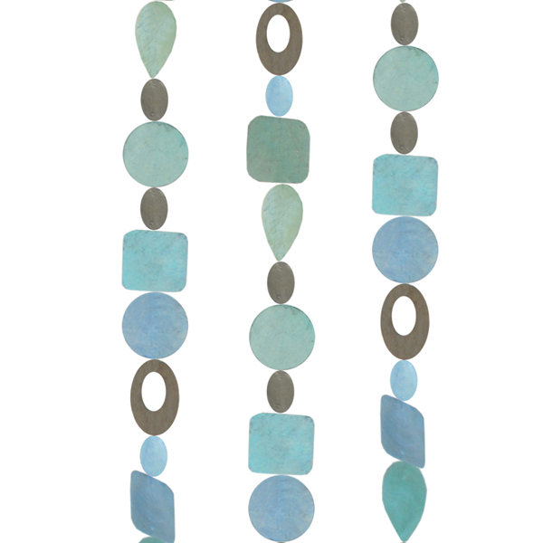 Capiz Shell Strand | Ice Blue (set of 2)