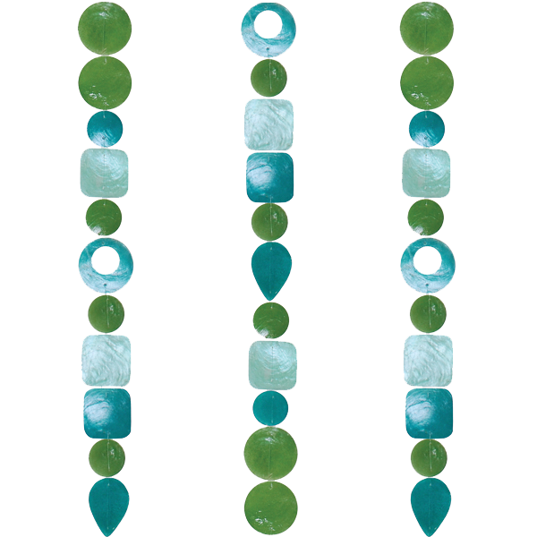 Capiz Shell Strand | Tide Pool Teal (set of 2)