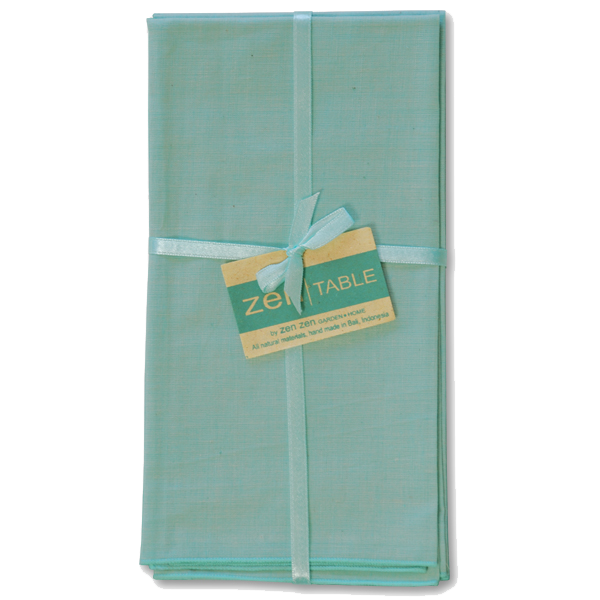 Napkins | Balinese Cotton Aqua (set of 8)